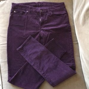 7 for all mankind plum skinny jeans
